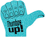 16 inch Thumbs Up Foam Hand